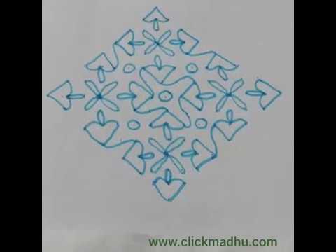 15X1 Chukkala Muggulu – Rangoli Design